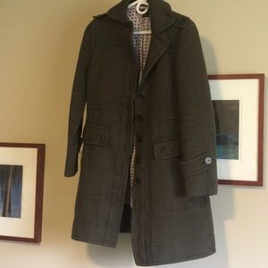 Marc Jacobs | Olive Green long coat size Small